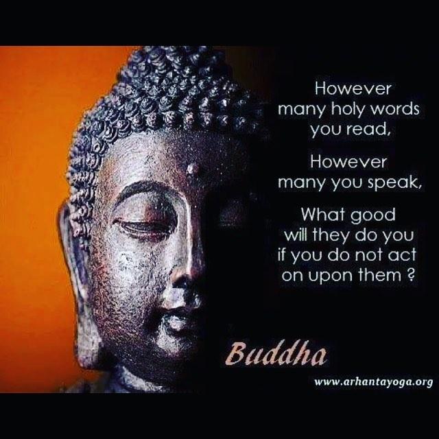 Actions speak louder than words quoteoftheday qotd instayoga buddha yogapracticehellip