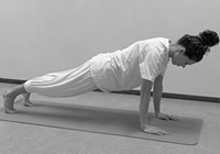 yoga poses opwarming zonnegroet plank