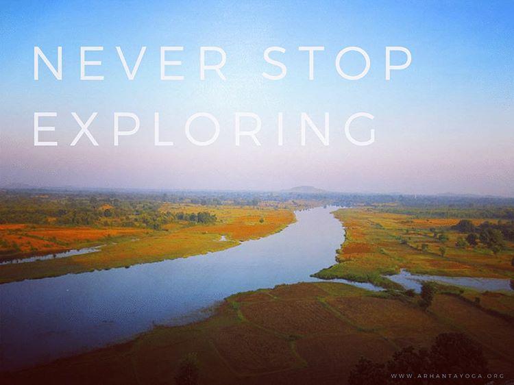 Never stop exploring quoteoftheday qotd arhantayoga arhantayogaashram india amazingindia khajurahohellip