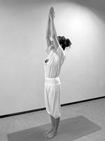 yoga oefeningen reeks beginners Berghouding Tadasana