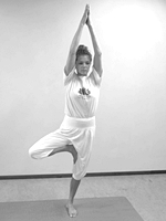 yoga poses voor beginners Boomhouding Vrksasana