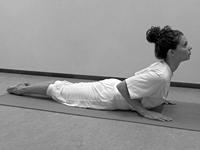 beginnende yoga oefeningenreeks Cobra Bhujangasana