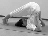 Hatha yoga houdingen Ploeg Halasana