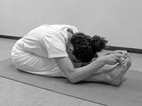 yoga houding voor beginners Zittende Vooroverbuiging Paschimottanasana