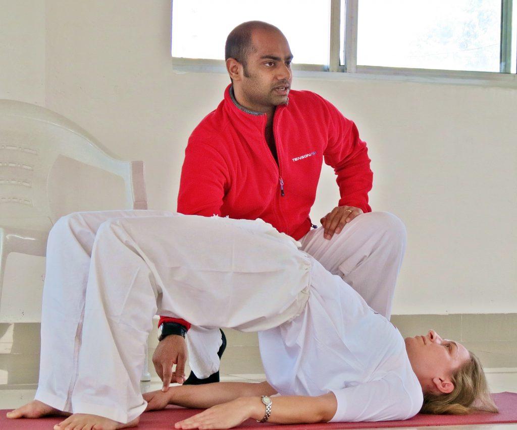 beginners yoga houdingen brug