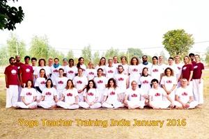 201601 Hatha yoga opleiding India