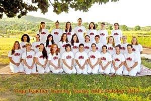 Yoga docenten opleiding cursus India oktober 2012