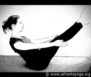 yoga oefeningen buikspieren boothouding