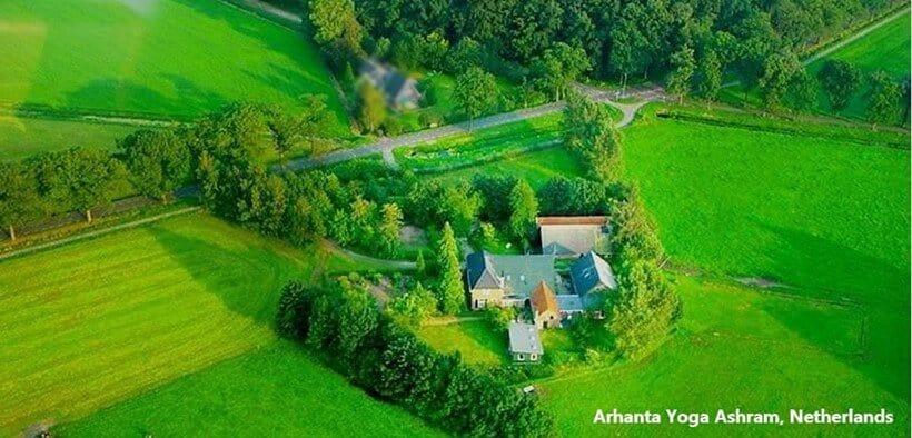 Arhanta Yoga Ashram Nederland locatie