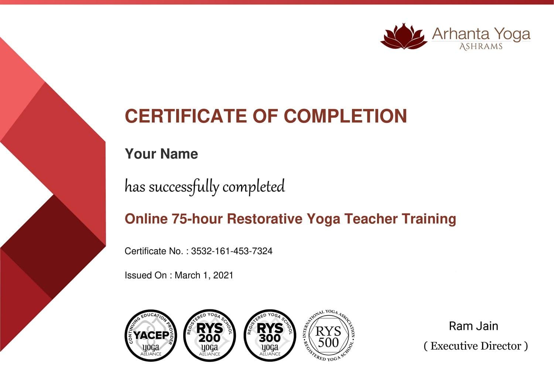 Certificering van herstellende yoga lerarenopleiding