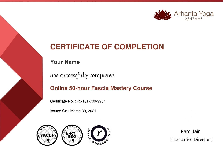 Fascia Mastery Certificate