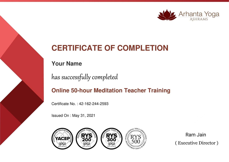Meditatie opleiding certificaat